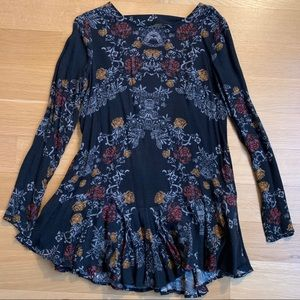 Free People Floral Tunic, XS